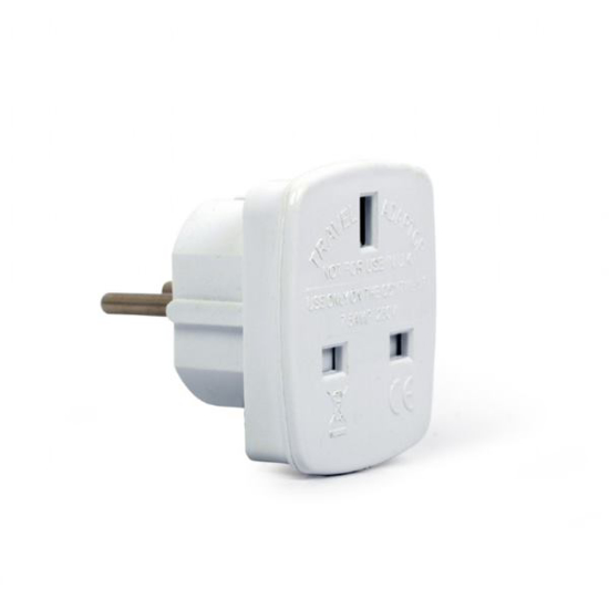 Slika Gembird AC power adapter, UK socket to EU Schuko plug, 7.5 A