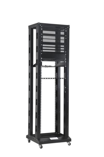 "Slika NaviaTec 19"" 4 Post Open Frame Rack, 42U Black"