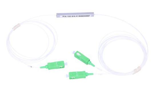 Slika NFO Fiber Optic PLC Splitter, 1:2, Steel Box, SM, G657A, 1m, SC/APC