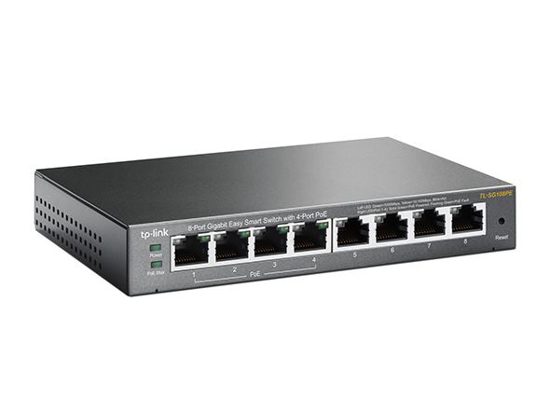 Slika TP-Link 8-Port GbE RJ45 with 4x 802.3af PoE ports Easy Smart Switch