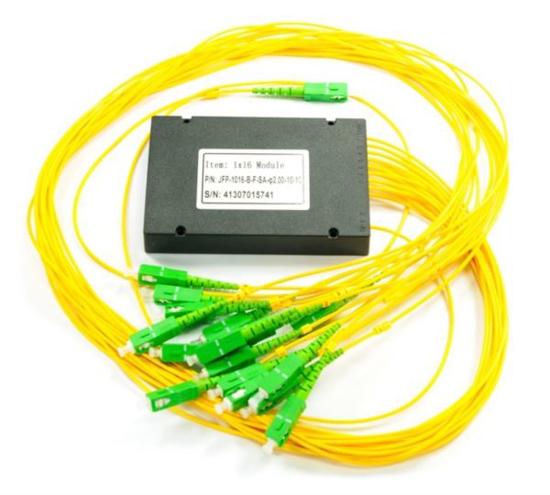Slika NFO Fiber Optic PLC Splitter, 1:32, ABS Box, SM, G.657A, 1m, SC/APC
