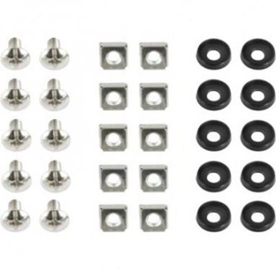 Slika Gembird 19'' rack mounting set (bolt, nut, washer), 10 pcs set