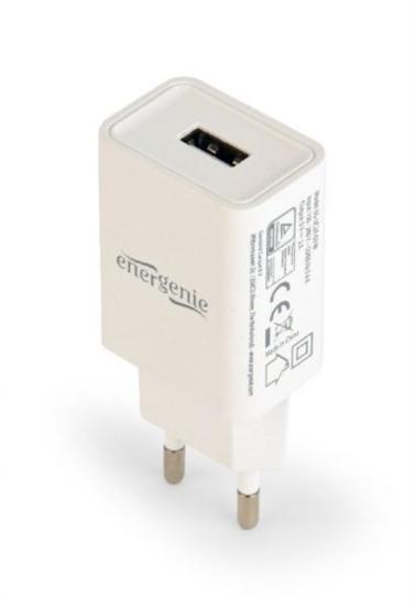 Slika Gembird Universal USB charger, 2.1 A, white