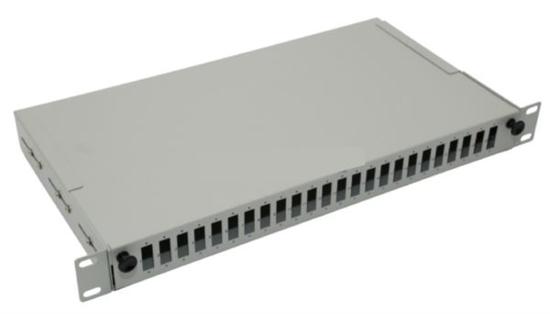 "Slika NFO Patch Panel 1U 19"" - 24x SC Duplex, Pull-out, 2 trays"