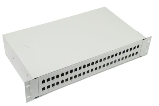 """Slika NFO Patch Panel 2U 19"""" - 48x SC Simplex/LC Duplex, Slide-out on rails, 1 tray included"""
