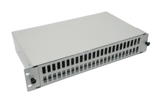 "Slika NFO Patch Panel 2U 19"" - 48x SC Duplex, Slide-out on rails, 2 trays"