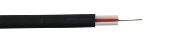 Slika NFO Cable ADSS Flat, SM, G.652D, 2 fiber, 1 tube, 2x FRP, 7,2 x 4mm, 1 km