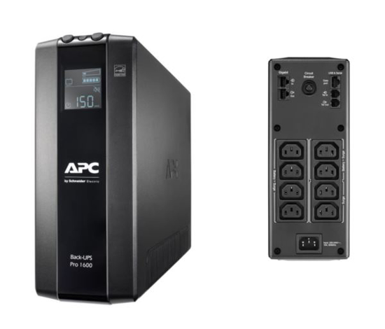 Slika APC Back UPS Pro 1600VA, 8x IEC C13 Outlets, AVR, LCD Interface
