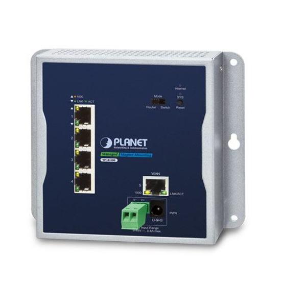 Slika Planet Industrial 5-Port 10/100/1000T Wall-mount Gigabit Router