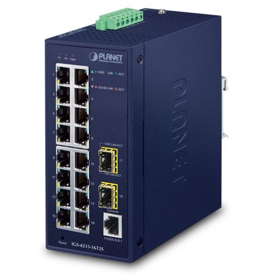 Slika Planet Industrial L2/L4 16-Port GbE + 2-Port 100/1000X SFP Managed Switch