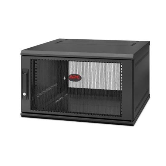 Slika APC NetShelter WX 6U 600x600 Wall Mount Cabinet Black with swing handle