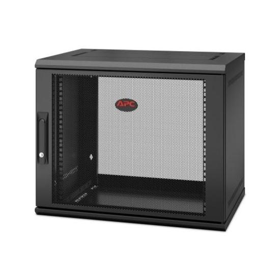 Slika APC NetShelter WX 9U 600x400 Wall Mount Cabinet Black with swing handle