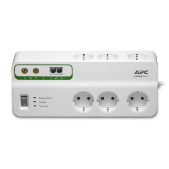 Slika APC Home/Office SurgeArrest 6 outlets with Phone & Coax Protection 230V