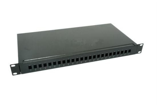 """Slika NFO Patch Panel 1U 19"""" - 24x SC Simplex/LC Duplex, Pull-out, 1 tray, Black"""