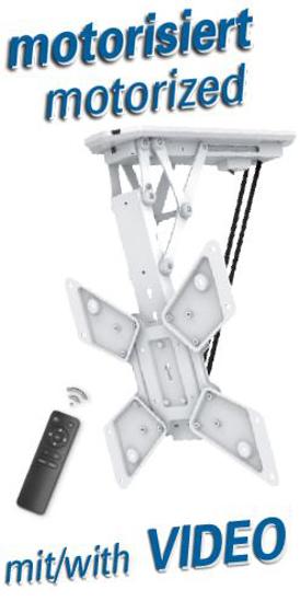 """Slika Transmedia Motorized & Folding Suspension Bracket for LCD Monitor 23""""-55"""" White"""