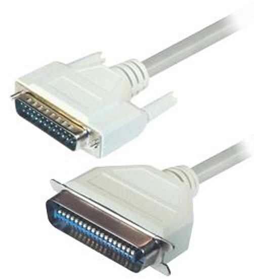 Slika Transmedia Connector Cable Sub D-plug 25 pin - Centronics-plug 36 pin, 3m