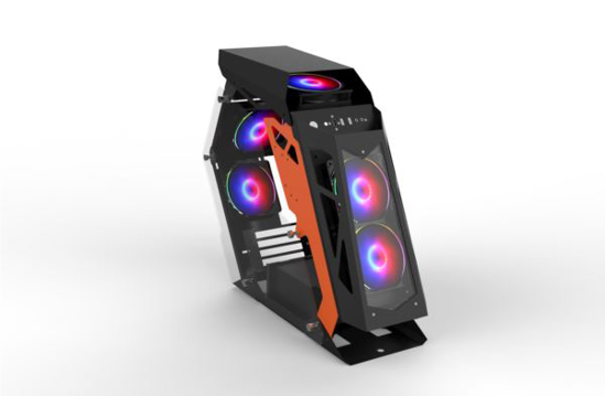 Slika NaviaTec Hero Gaming Case mATX, Tempered Glass