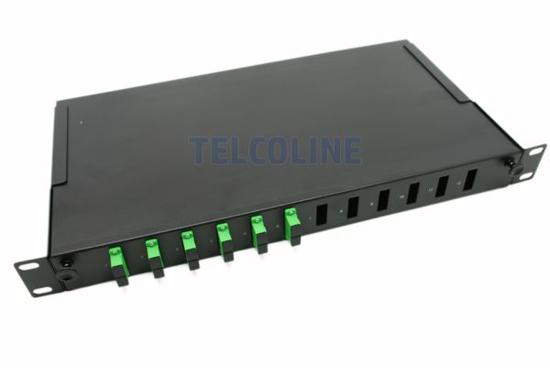 "Slika NFO Patch Panel 1U 19"" - 12x SC Duplex, Pull-out, 1 tray, Black"